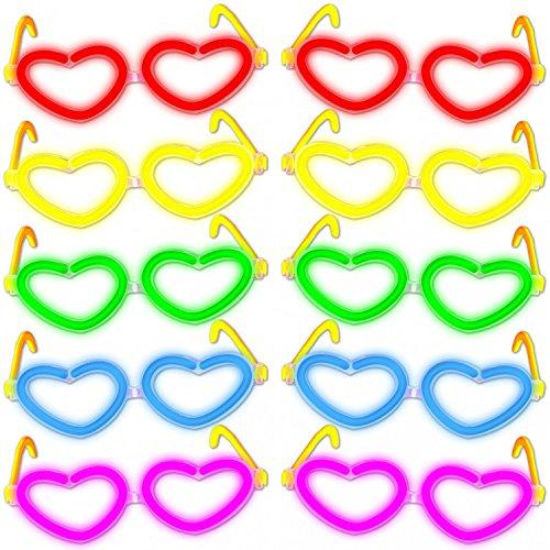 10x Herz - Brille FARBMIX