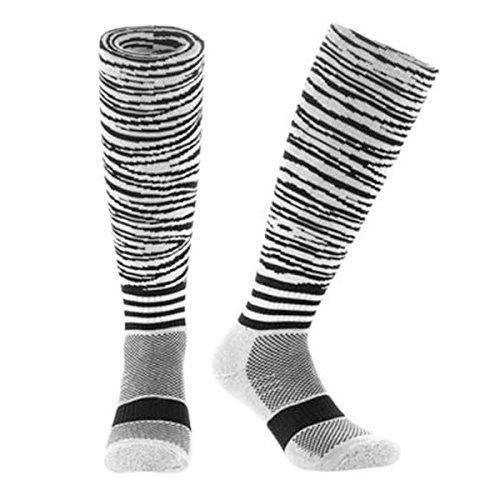 Samson Hosiery® Kinder Damen Herren Socken Fußball ausgefallene Socken Farbe Gr. L, Print Zebra (Print Print-zebra)