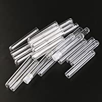 LEORX Tubos de ensayo plásticos regalo tubos con tapas, 5ml, Pack de 25 (transparente)