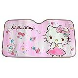 MFEIR Hello Kitty Pink Auto Sonnenblende Sonnenschutz Frontscheibe Blendschutz Windschutzscheibe Schattenspender Autozubehör im Sommer