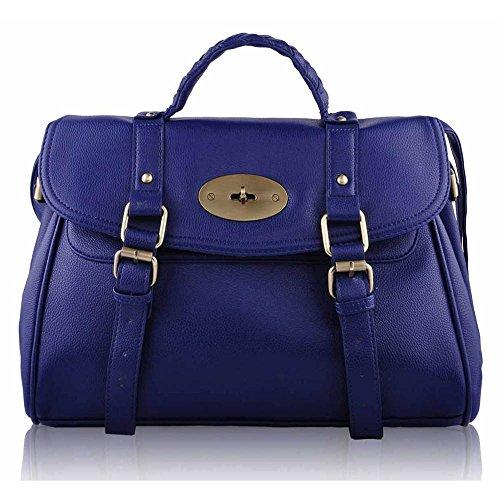 TrendStar Frauen Taschen Luxus Ranzen Grab Damen Schulterhandtaschen Kunstleder Modedesigner Neue Marine 1