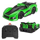 Ehpow Ferngesteuertes Auto Spielzeug Wandklettern RC Auto 360 ° Drehbare Stunt Cars USB Wiederaufladbare Autos Jungen Mädchen Alter von 3-16 Jahre alt (Grün)