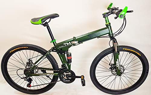 UAT-bike MTB Fahrrad Klappbar 26 Zoll Shimano TZ 21-Gange Scheibenbremse Voll Suspension