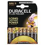 Duracell Plus Power Batterie alcaline, Ministilo, AAA, confezione da 8