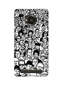 Gobzu Printed Hard Case Back Cover for Micromax YU Yuphoria - Crowd