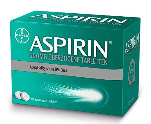 Aspirin 500 mg überzogene Tabletten, 40 St. Tabletten