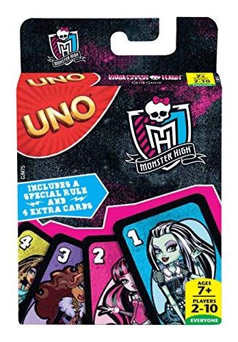 Mattel Jeux cjm75–Jeu de Cartes Uno Monster High