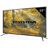 Televisores Led 55 Pulgadas 4k UHD TD Systems K55DLM8U (Resolución Ultra hd 4K /HDMI 3/VGA 1/USB Repoductor y Grabador) Tv Led TDT HD DVB-T2