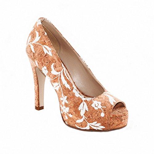 NAE Cork Rose Peep Toe - vegane Schuhe (41)