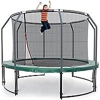 Ampel 24 Deluxe Outdoor Trampolin 366 cm Grün | Komplett mit innenliegendem Netz | Gartentrampolin mit Dem Maximum an Sicherheit | Sicherheitsnetz mit 8 Stangen | Belastbarkeit 160 kg