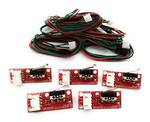 Turmberg3D - Mechanische Endschalter mit LED Indikator und Kabel für RAMPS 3D-Drucker RepRap Mendel Prusa Anet A8 A6 Makerbot Mega 2560 1280 CNC Arduino (Endstop ohne Rad, 5)