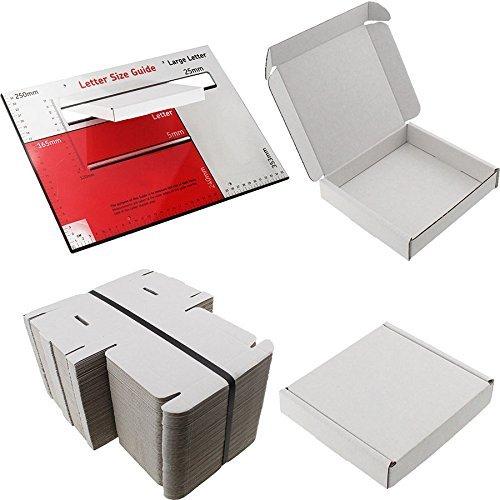 10x Weiß Box Mini. Größe: 10cm x 10cm x 2cm VERSAND Versandtaschen PIP großes Brief