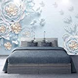 3D Non-Woven Wallpaper 8D Mural Embossed Three-Dimensional Wallpaper Modern Minimalist European Tv Background Wall Paper Living Room Seamless Jewelry Wall Cloth, 430Cm*300Cm