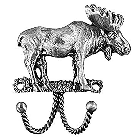 Sierra Lifestyles Decorative Hook, Moose, Pewter by Sierra Lifestyles
