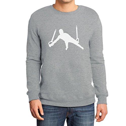 Männer Turner Silhuette Fanartikel Geschenk Sweatshirt Large Grau