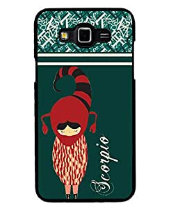 Fuson 2D Printed Sunsign Scorpio Designer back case cover for SAMSUNG GALAXY GRAND MAX G720 - D4403