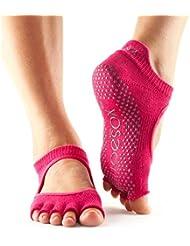 Toesox Bellarina Half Toe Paire de chaussettes de yoga avec semelle antidérapante