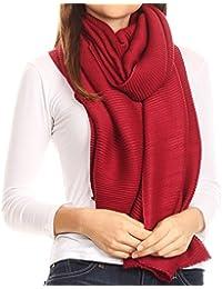 Sakkas Cara Pleated Crinkle Soft and Warm Shawl/ Wrap/ Stole