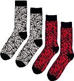 Fana & Fotter Herren Socken - 2er Pack: Retro Mosaic/Floral Black (One Size (Herstellergröße: 41-46))