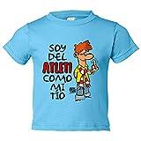 Camiseta niño soy del Atleti como mi tio Jorge Crespo Cano - Celeste, 3-4 años