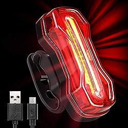 Albrillo Luz Trasera para Bicicleta Recargable USB - Potente LED Faro Trasero Bici - Muy Luminoso y Fácil de Instalar Luces Rojas Máxima Seguridad Ciclismo