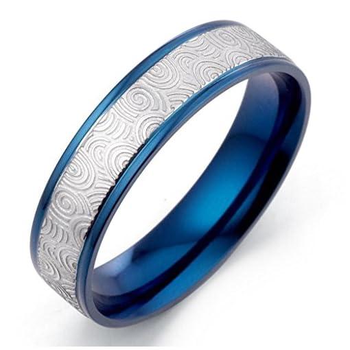 Bicolor Breite 4mm Gr/ö/ße 48-66 Gemini Damen-Ring Titan Freundschaftsringe Eheringe Herren-Ring Titan Hochzeitsringe