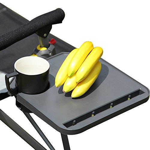 Freundliche Sonnenschutz (KingCamp 360 ° Verstellbare Campingstuhl-Tablett, passend für jeden Stuhl, Wiege oder Sonnenschutz)