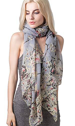 Diarylook donna moda farfalla stampa sciarpe lunghe collo floreale sciarpa a scialle avvolgere