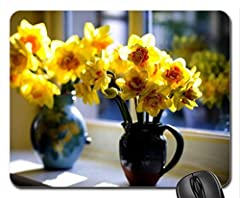 Idea Regalo - Vasi di DAFFODILS Mouse Pad, tappetino per Mouse, motivo: Flowers Mouse Pad