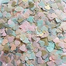 Club Green, coriandoli a forma di cuore biodegradabili, colori assortiti