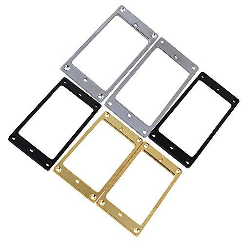 yibuy metallo collo Ponte Humbucker Pickup anello di montaggio colorato set di 6 - Humbucker Frame