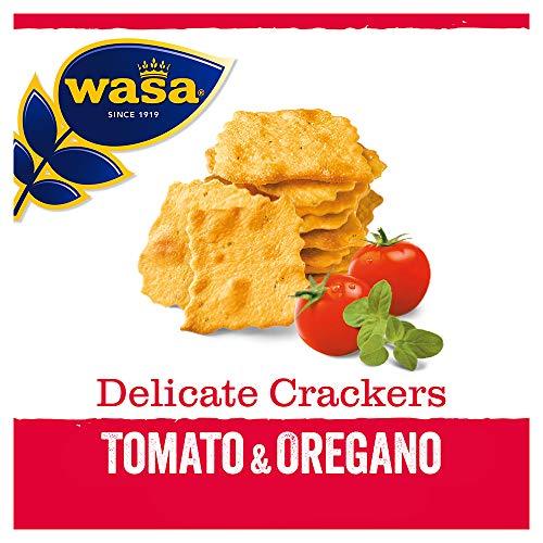 Wasa Knäckebrot Delicate Cracker Tomate und Oregano, 160 g