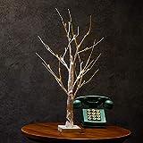 Supertop 60cm 24 LED Tree Lights Stehendes warmes weißes batteriebetriebenes Birken-Baum-Licht-Tischplatte-Baum-Licht-Schmucksache-Halter-Dekor für Hauptpartei-Hochzeits-Weihnachten