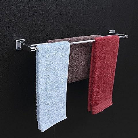 uzi-modern baño toalla bares, acero inoxidable cobre plateado, doble polo de un solo nivel (rack