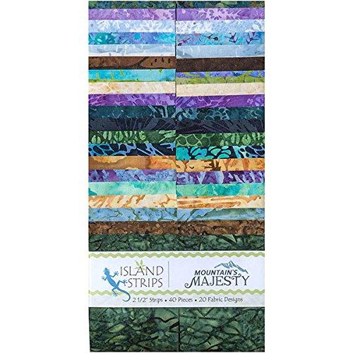 Kathy Henry Engle Berge Majesty Streifen 402,5Streifen Jelly Roll Insel Batik (Jelly Roll Stoff Batik)