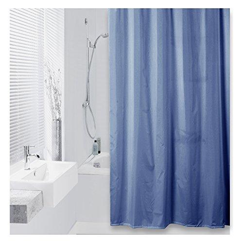 Marina Duschvorhang (DIFFERNZ 31.002.49Color Duschvorhang Textil 180x 200blau marineblau, Blue Marine)