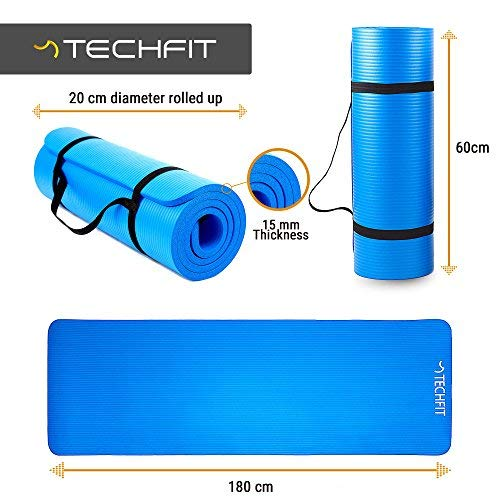 Zoom IMG-1 techfit fitness yoga tappetino 15mm