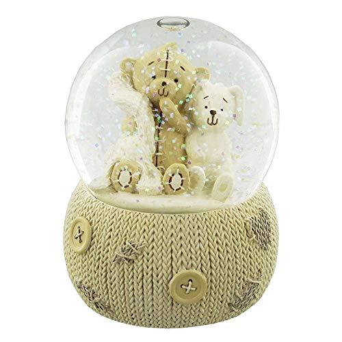 Button Corner Teddybär-Schneekugel in Geschenkbox