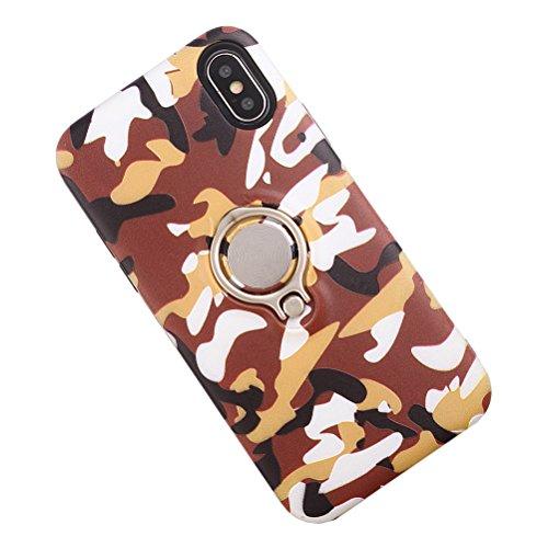 Camo Camouflage Printing Telefon-Kasten mit Ring-Halter-männlichem schützendem Anti-verkratzen stoßfestem Shell-Kasten