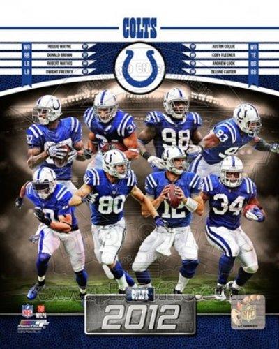 Composite-indianapolis Colts (Indianapolis Colts 2012 Team Composite Photo Print (40,64 x 50,80 cm))