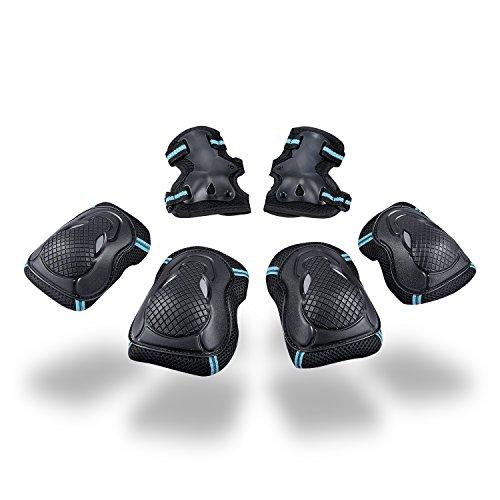 Kinder Protektorenset - Kind Junior Knieschoner Ellenbogenschützer Handgelenkschoner Schutzset für Teenager Erwachsene BMX Skateboard Inline Roller Skate Outdoor Sport Pad Set (Größe M)