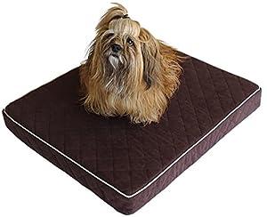 Hundekissen Napoleon, royales Hundebett in jeans – blau, grau oder dunkel - braun, Liegeplatz für den Hund wahlweise in S, M oder L
