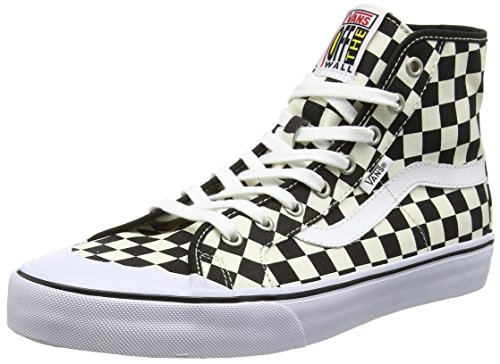 Vans Black Ball Hi Sf - Scarpe da Ginnastica Basse Uomo, Multicolore (checkerboard/black/white), 38.5 EU Multicolore (checkerboard/black/white)