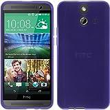 PhoneNatic Case kompatibel mit HTC One E8 - lila Silikon Hülle transparent + 2 Schutzfolien