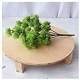 no brand CGS2 Bienvenue Chanson Artificielle en Plastique Plante Verte Fausse Fleur Usine Idéal for la décoration Bureau Jardin intérieur de la Maison et à l'extérieur Balcon (Color : Green)