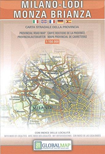 Milano-Lodi-Monza. Carta stradale della provincia 1:150.000