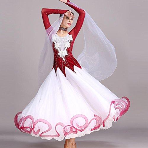 Handgefertigt Wasserlösliche Blume Damen Großer Schaukel Moderner Tanz -