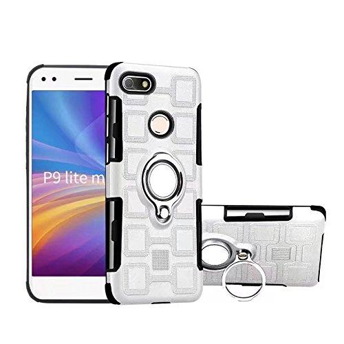 Per i casi di protezione del telefono cellulare, per huawei p9 lite mini custodia, armor dual layer 2 in 1 custodia protettiva con supporto per anello rotante con cavalletto supporto magnetico per aut