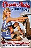Retro Wandschild Designer Schild Classic Auto Service & Repair Pin Up Deko 20x30cm Nostalgie Metal Sign XF67WA