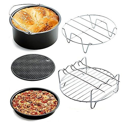 BlackRomance Universal Air Fryer Zubehör Kit für Gowise Phillips und Cozyna, Set von 5 Optimal Air Fryer Utensilien passen alle 3,2, 5,3, 5,8 QT, 7 Zoll